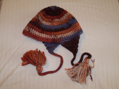 Crochet hat multi colored