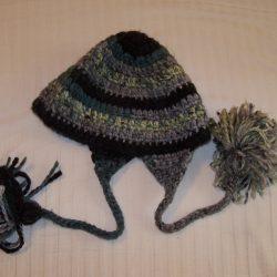 Crochet Hat-Grey