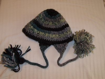 Crochet Hat-Grey