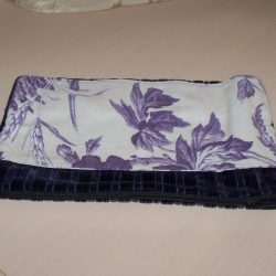 Makeup Bag-Purple Velour
