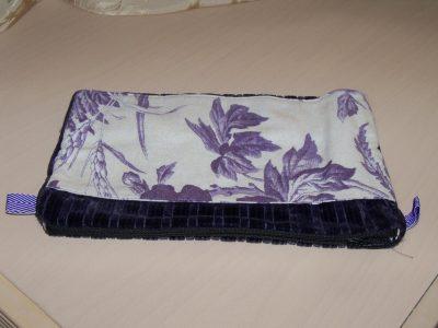 Makeup Bag-Purple Velour