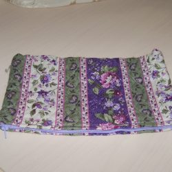 Makeup Bag-Lavender and Green