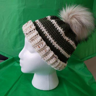 Striped Hat Foam Head