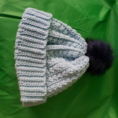 Crocheted Blue Hat