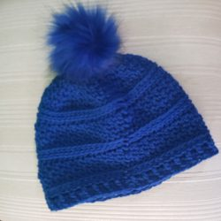 Royal Blue Pompom