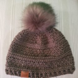 Brown Hat Pompom